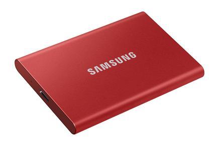 Taşınabilir SSD T7 USB 3.2 Gen 2 1TB (Kırmızı)