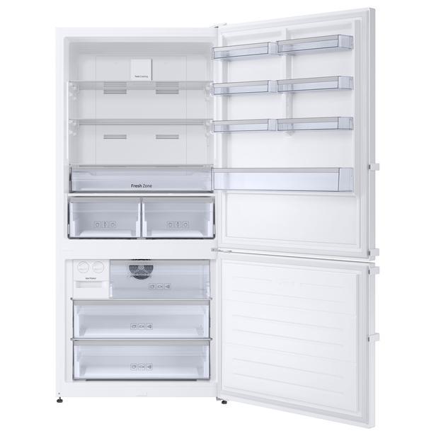 Beyaz RB56TS754WW Twin Cooling™ Alttan Donduruculu 607 L Buzdolabı, Beyaz