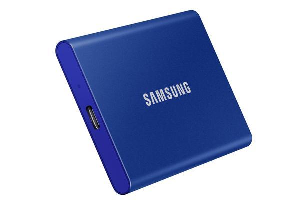 Mavi Taşınabilir SSD T7 USB 3.2 Gen 2 500GB (Mavi)