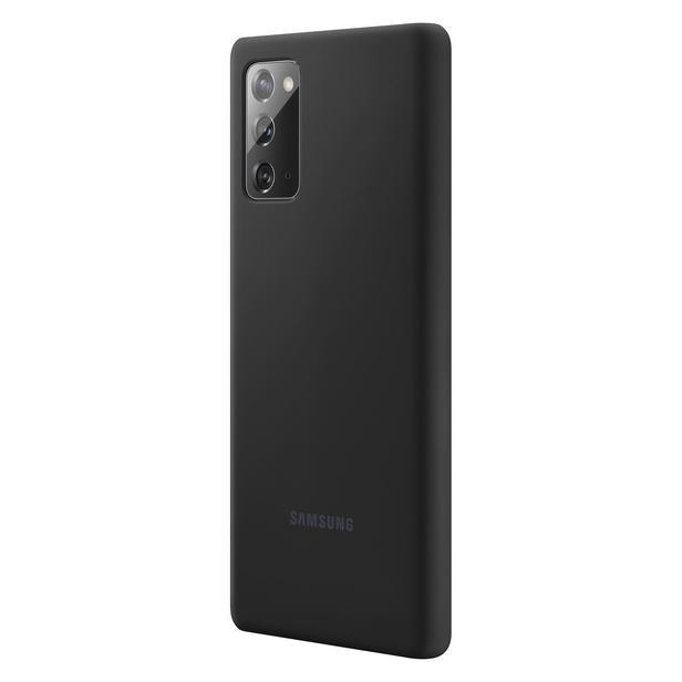Mistik Siyah Galaxy Note20 için Silikon Kılıf