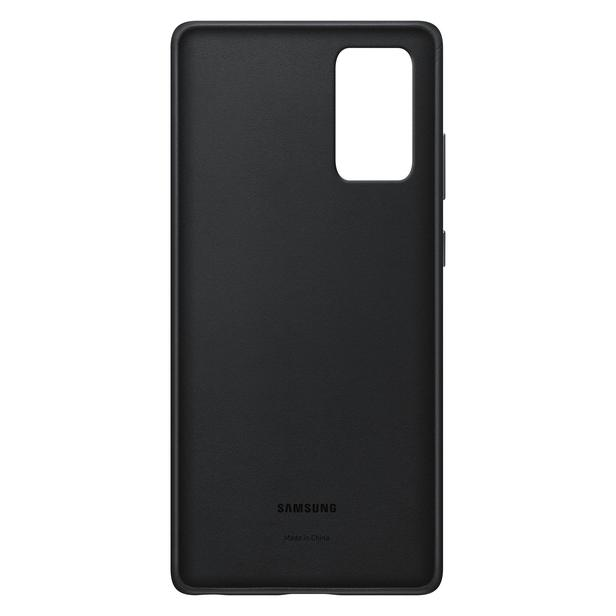 Siyah Galaxy Note20 için Deri Kılıf