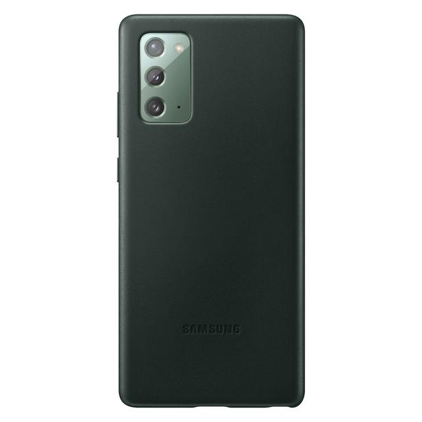 Yeşil Galaxy Note20 için Deri Kılıf
