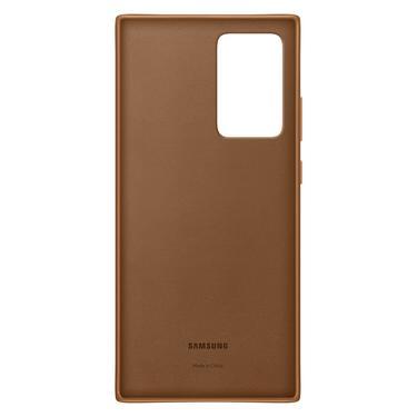 Kahverengi Galaxy Note20 Ultra için Deri Kılıf