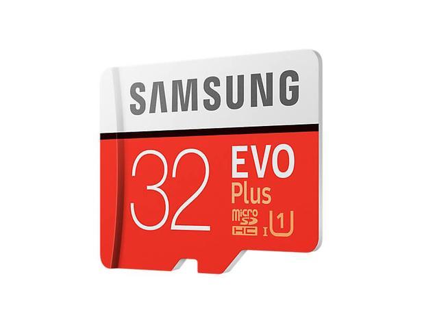 Kırmızı EVO Plus microSD Hafıza Kartı 32GB