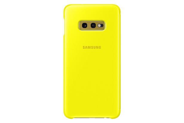 Sarı S10e Sarı Clear View Kılıf