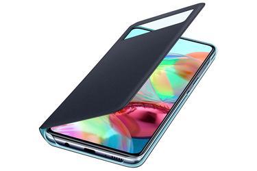 Siyah Galaxy A71 S View Cüzdan Kılıfı