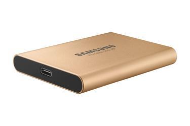 Altın Taşınabilir SSD T5 USB 3.1 500GB (Altın)