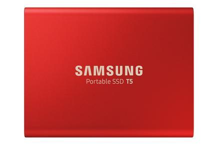 Taşınabilir SSD T5 USB 3.1 500GB (Kırmızı)