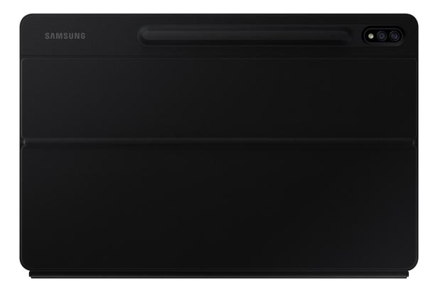 Siyah Galaxy Tab S7+ Klavyeli Tablet Kılıfı