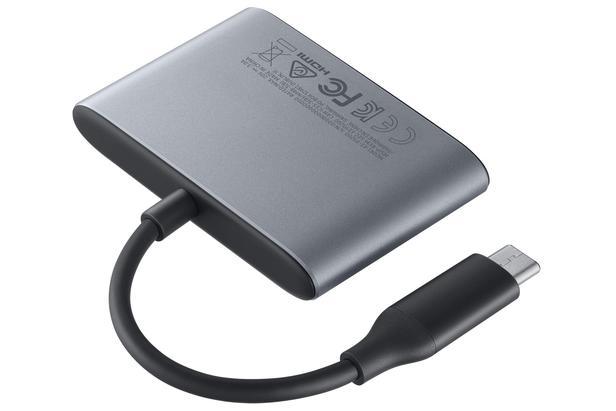 Gri Çok Girişli USB tip C Adaptör