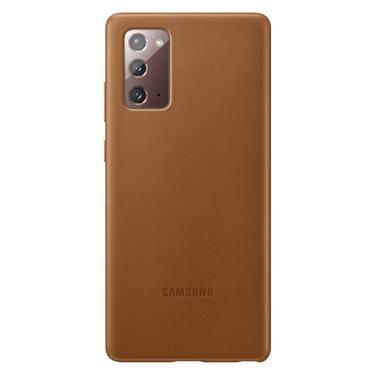 Kahverengi Galaxy Note20 için Deri Kılıf
