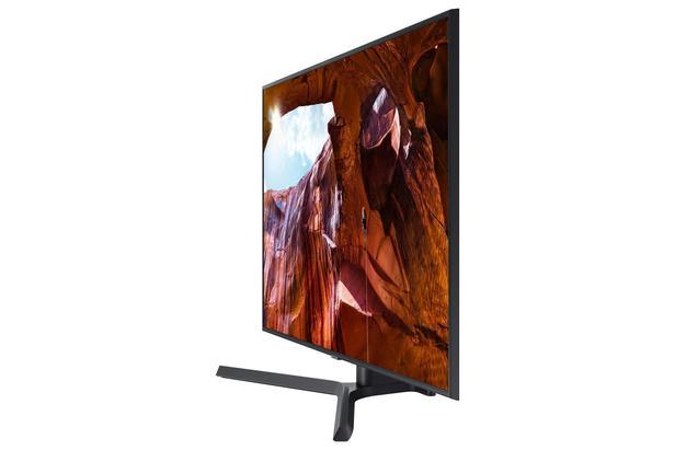 """Silver 65"""" RU7400 Flat Smart 4K UHD TV (2019)"""