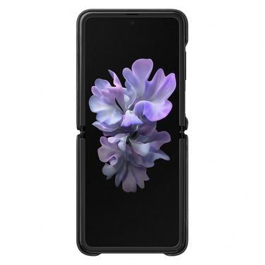 Siyah Galaxy Z Flip Deri Kılıf