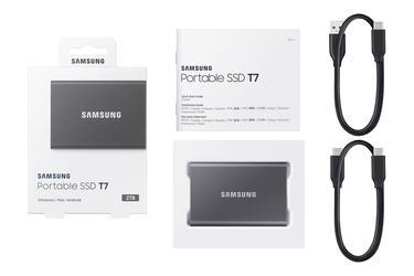 Gümüş Taşınabilir SSD T7 USB 3.2 Gen 2 2TB (Gümüş)