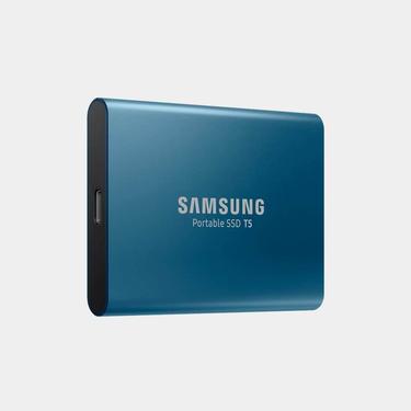 Mavi Taşınabilir SSD T5 USB 3.1 500GB (Mavi)