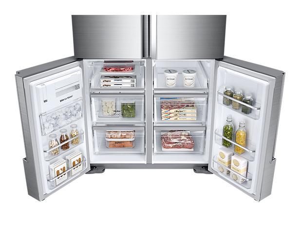Gümüş RF85K90127F Triple Cooling™ Teknolojili Gardırop Tipi Buzdolabı, 865 L