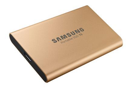 Taşınabilir SSD T5 USB 3.1 1TB (Altın)