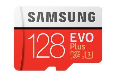 Kırmızı SD Adaptörlü EVO Plus microSD Hafıza Kartı 128GB