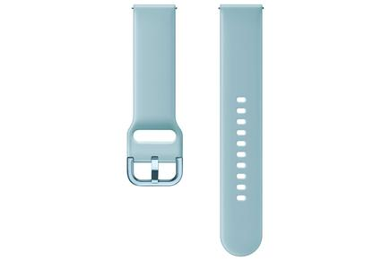 Galaxy Watch Active 20mm Mavi Mercan Silikon Kayış