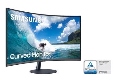 """27"""" T55 Dahili Hoparlörlü Çerçevesiz 1000R Kavis VA 75Hz Freesync DP/HDMI Full HD Gaming Monitör"""