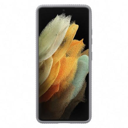 Galaxy S21 Ultra Koruyucu Stant Kılıf - Açık Gri