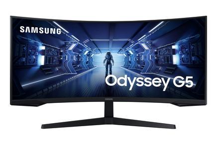 """Odyssey G5 34"""" Ultra WQHD 2K 1ms 165Hz Freesync HDR10 1000R Kavisli Oyun Monitörü"""