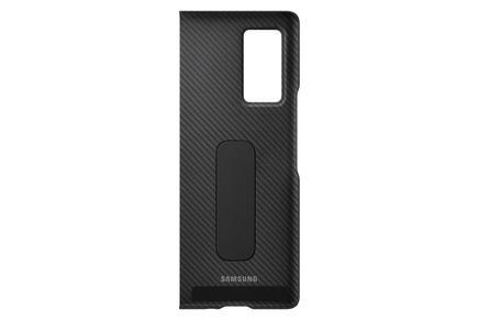 Galaxy Z Fold2 için Aramid Ayaklı Kılıf siyah