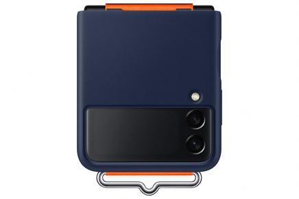 Galaxy Z Flip3 5G Silicone Cover with Strap